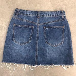 Tobi Skirts - Tobi Florence Medium Wash Denim Mini Skirt